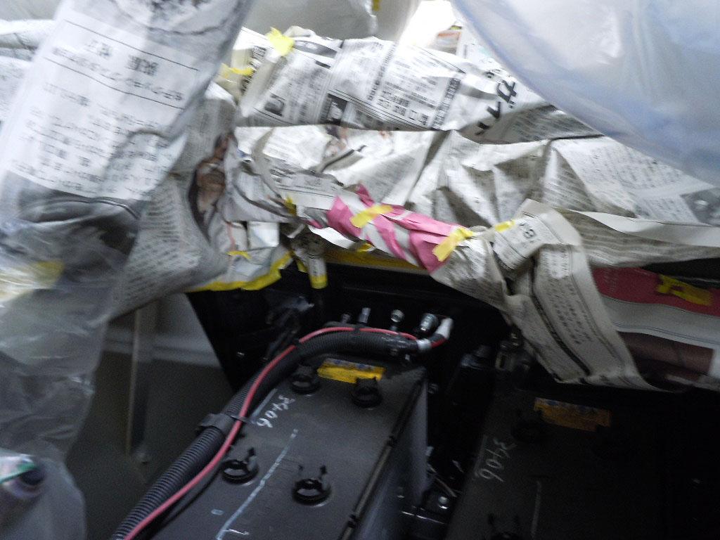 ミキサー車のサビ止め施工例5-5